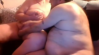 Playing with my new wifes tits and pussy