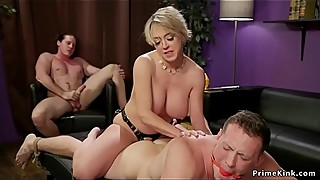 Huge tits wife anal bangs husband threesome