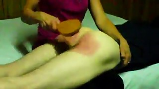 Wife Spanks and Paddles Husband