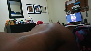 Ebony wife sucks,rides and gets backshots.