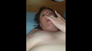 Watch the wife rub her clit
