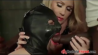 Blonde Wife tricked her Husband in Dungeon