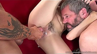 Cum Eating Cuckolds -  Nikki Next fucks a big dick with a help of her hubby