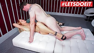 LETSDOEIT - Lustful German HouseWife Rides Bosses Dick In Locker Room
