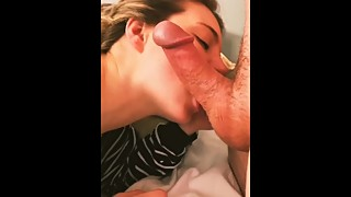 Hot Wife Morning Blowjob