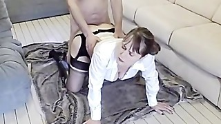 sexy wife fucked in boots & stockings