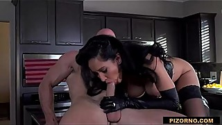 Horny latina wife Isis Love in dominatrix outfit