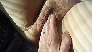 Wifes purple dildo and messy pussy vid 1