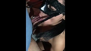 My friends wife comes over to suck my dick and swallows load