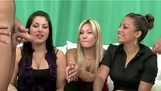 CFNM loving ladies sucking cock