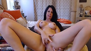 Loud moaning cheating wife Joscelyn rides dildo and cums