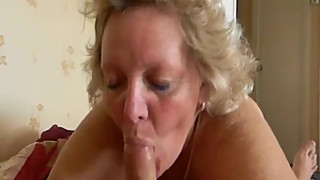 Chubby Mature Wife Blowjob