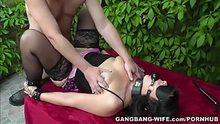 Degrading gangbangs with hot naughty slutwife