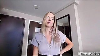 Business trip with Flirty MILF Jenna Jones!!She feels so horny and swallowed his stepsons dick and gets a tasty facial ending.