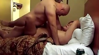 Husband films wife fucking burly stranger