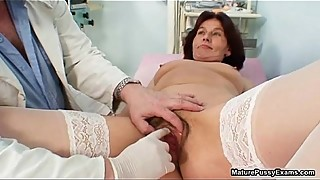 Nasty old housewife getting her large