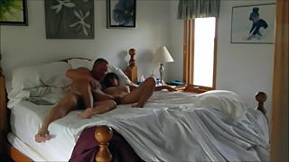 Hunk daddy fucks his wife