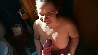 Cumslut Wife Sucks Huge Cock Gets Massive Facial