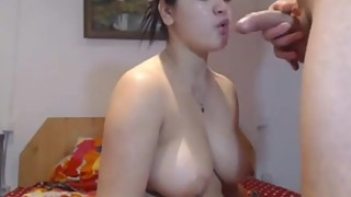 Desi Wife takes Big Facial