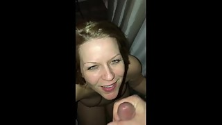 Fucking and giving my pregnant wife a MONSTER facial