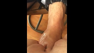 Wife takes huge fist
