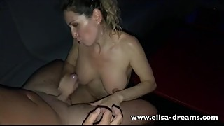 Hotwife gets fucked by some strangers in a club