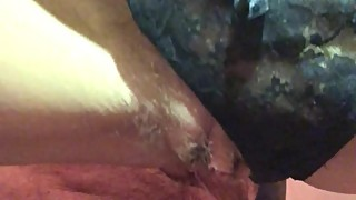 View from Under my Wife's Pussy as I Fuck Her Pussy Lips