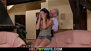 Hot wife rides stranger'_s big meat