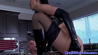 Kinky BDSM real milf gf loves to fuck guy