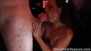 Hidden Gloryhole Cam Housewife Sucks & Fucks