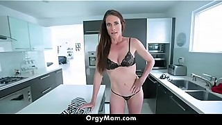 Horny Step Mom Sofie Marie Gets Her Pussy Banged Hard in Kitchen By Her Son
