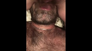 Milf Wife Sits on my Face While I Lick her Hairy Pussy she uses Vibrator