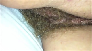 Amateur wife with a beautiful hairy pussy
