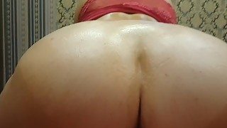 The excited wife with a big ass in the oil agreed to anal