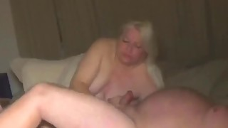 The wife uses her tongue and mouth on my hard cock