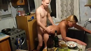 In front of a girlfriend I'm fucking my wife sex, homemade, amateur porn
