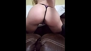 Horny house wife bangs couch