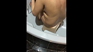 my desi wife taking bath pls comment