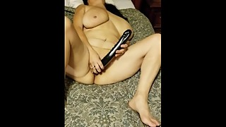 hotwife milf with toy