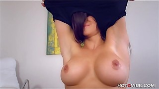 Busty MILF Fingers Her Perfect Pussy