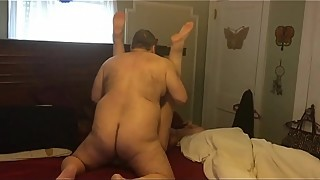 Fucking my lucious BBW wife missionary with her legs up