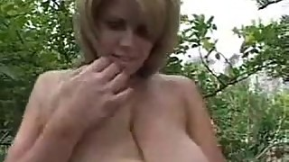 Young Mom With Big Saggy Tits Spreads Her Legs