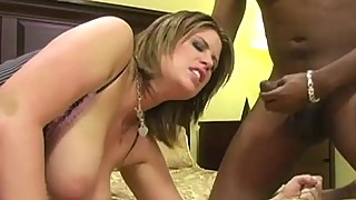 PAWG Bends Over For Two BBC