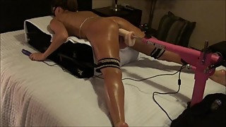 HOT TIGHT WIFE FUCKS HER FAVOURITE DILDO