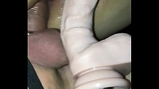milf ibi triple penetration with strapon and sex machine