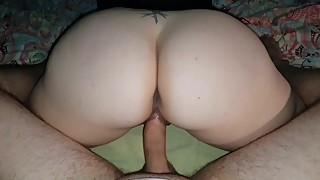 Big ass wife working his dick while World Cup is on...
