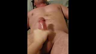 Wife massages prostate the finished with handjob!