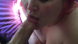 Bbw wife sucks my cock