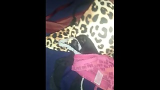 Cumming On My Wifes Bra And Panties