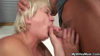 Wife catches him fucking her old mom